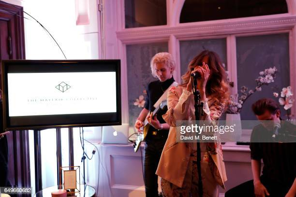 Whinnie Williams performs at the launch party of the Women's Space on International Women's Day on March 6 2017 in London England