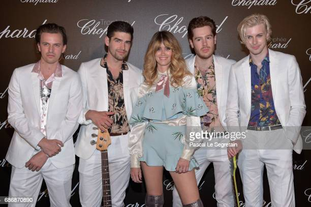 Whinnie Williams Will Jones Will Vaughan Ben Niblett and Tom Dream attend the Chopard Trophy photocall at Hotel Martinez on May 22 2017 in