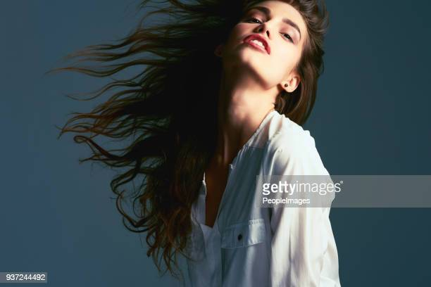 whip your gorgeous hair back and forth - blouse stock pictures, royalty-free photos & images