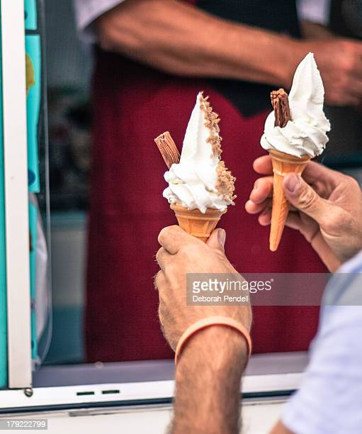 Whipped ice cream cones