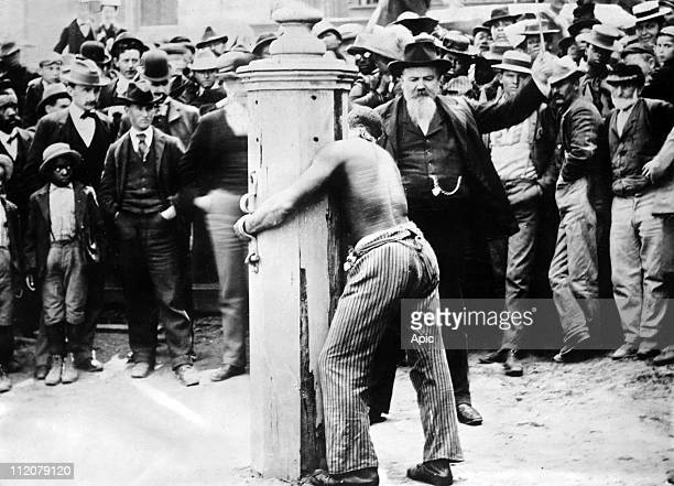 Whipping post Delaware USA c 1920