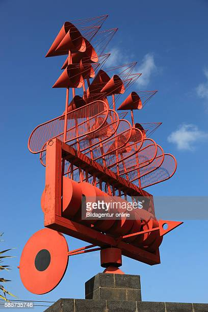 Whirligig Spain wind chime at Punta de Mujeres Lanzarote Canary islands canaries spain