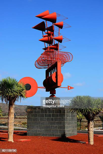Whirligig, Spain wind chime at Punta de Mujeres, Lanzarote, Canary islands, canaries, spain.