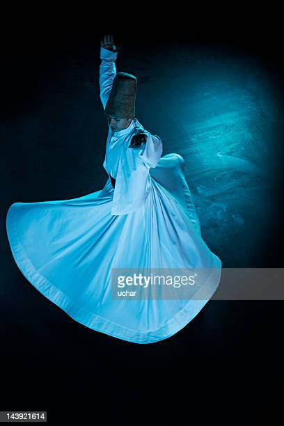 whirling dervish - sufism stock photos and pictures