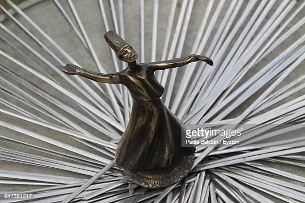 whirling dervish statue - sufism stock photos and pictures
