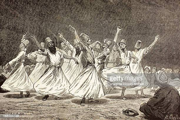 Whirling Dervishes In The 19Th Century From El Mundo Ilustrado Published Barcelona 1880