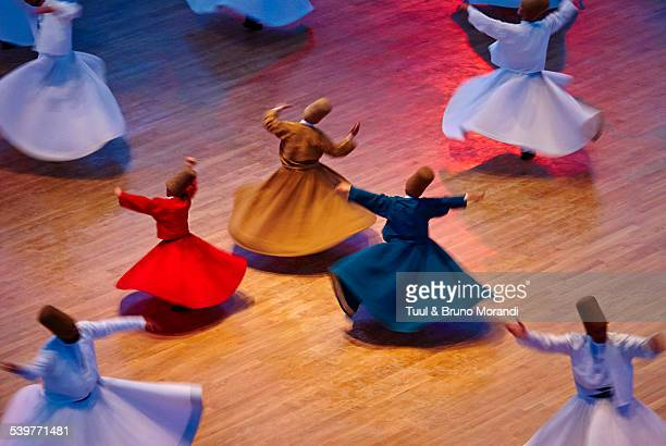 whirling dervishes, konya, turkey - sufism stock photos and pictures