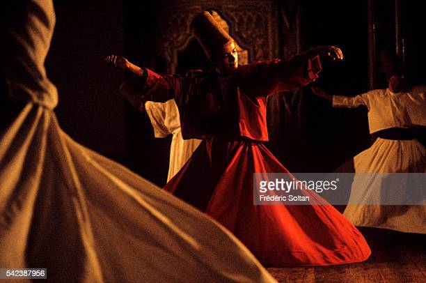 Whirling Dervishes perform in the Galata Monastery They belong to the Mevlevi a Sufi order