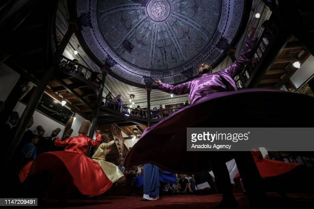 Whirling Dervishes perform on the Laylat alQadr which commemorates the first revelation of the Holy Quran to Prophet Muhammad at Culture Centre Of...
