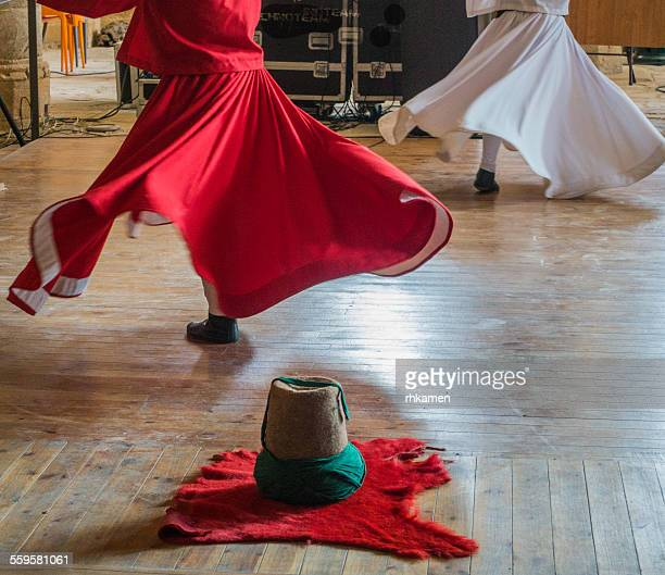 whirling dervishes - sufism stock photos and pictures
