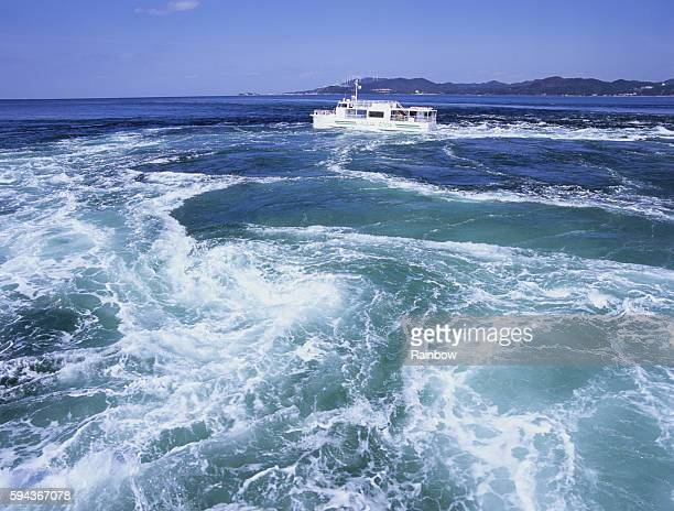 whirlpool, naruto city, tokushima prefecture, japan - naruto stock photos and pictures
