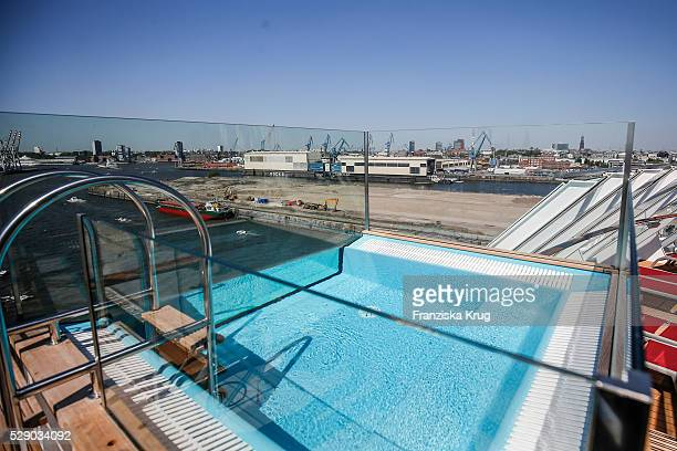 Whirlpool on deck at the AIDAprima Cruise Ship Baptism on May 7 2016 in Hamburg Germany