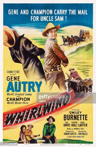 Gene Autry below from left Gail Davis Gene Autry Smiley Burnette 1951