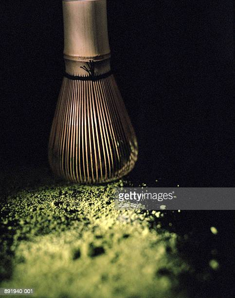 Whisk and green tea powder