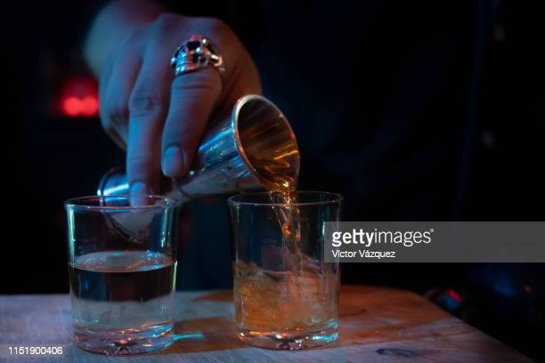 whiskey and vodka - vodka stock pictures, royalty-free photos & images
