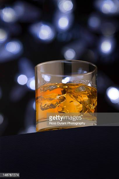 Whiskey, bourbon, or scotch on the rocks