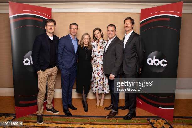 TOUR Whiskey Cavalier Session The cast and executive producers of Walt Disney Television via Getty Images's Whiskey Cavalier addressed the press at...