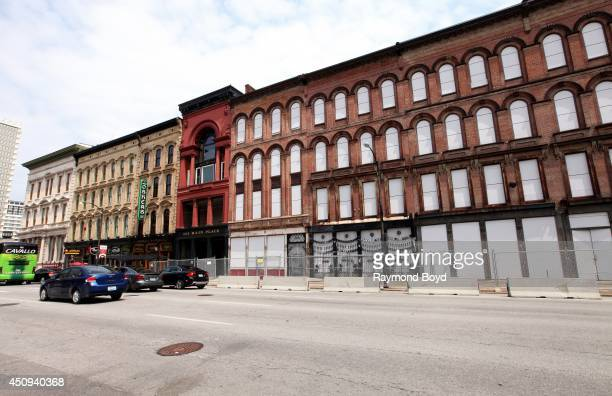 Whiskey Row Lofts and Buildings on May 30 2014 in Louisville Kentucky
