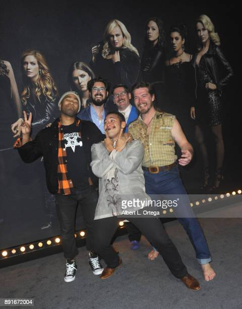 Whiskey Shivers arrives for the Premiere Of Universal Pictures' 'Pitch Perfect 3' held at The Dolby Theater on December 12 2017 in Hollywood...