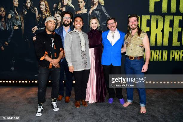 Whiskey Shivers attends the premiere of Universal Pictures' 'Pitch Perfect 3' at Dolby Theatre on December 12 2017 in Hollywood California