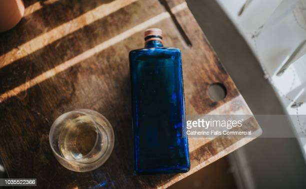 Whisky Bottle and Glass
