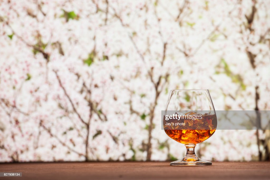 Whisky in nature background : Foto stock