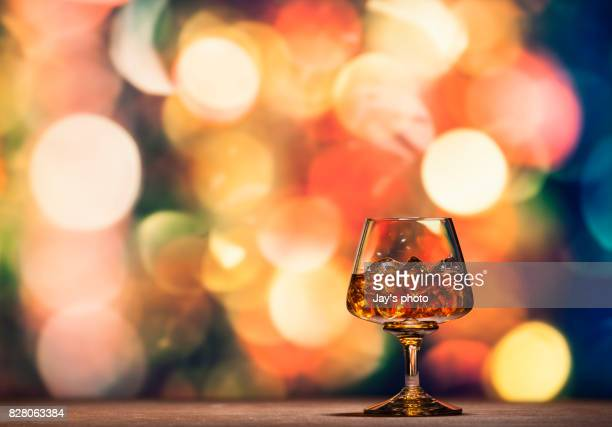 Whisky in party abstract background