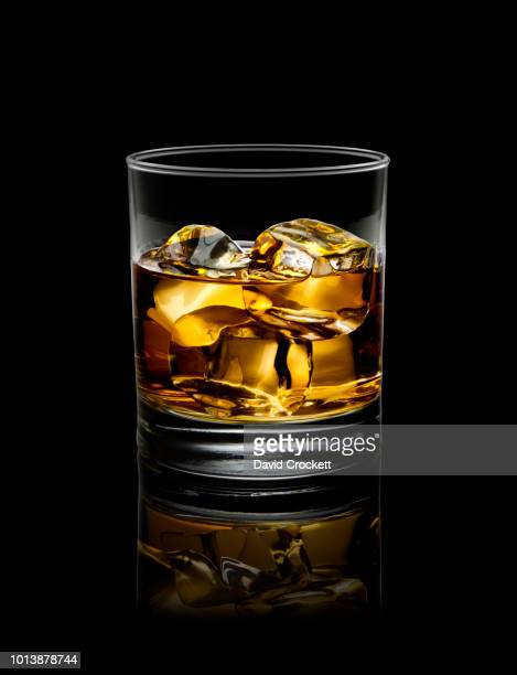 whisky on the rocks - whisky stock photos and pictures