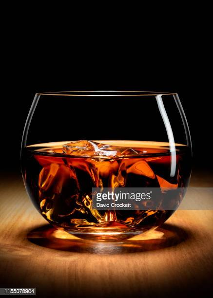 whisky on the rocks - scotch whiskey stock pictures, royalty-free photos & images