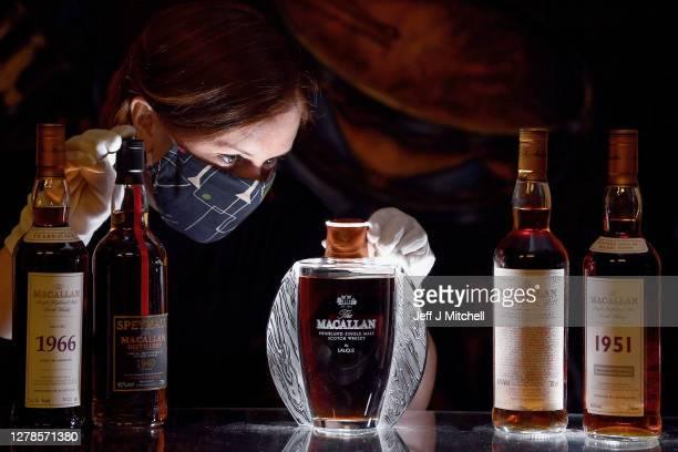 Whisky specialist at Bonhams Georgia Porteous views the pinnacle of a private whisky collection the extremely rare highly sought after...