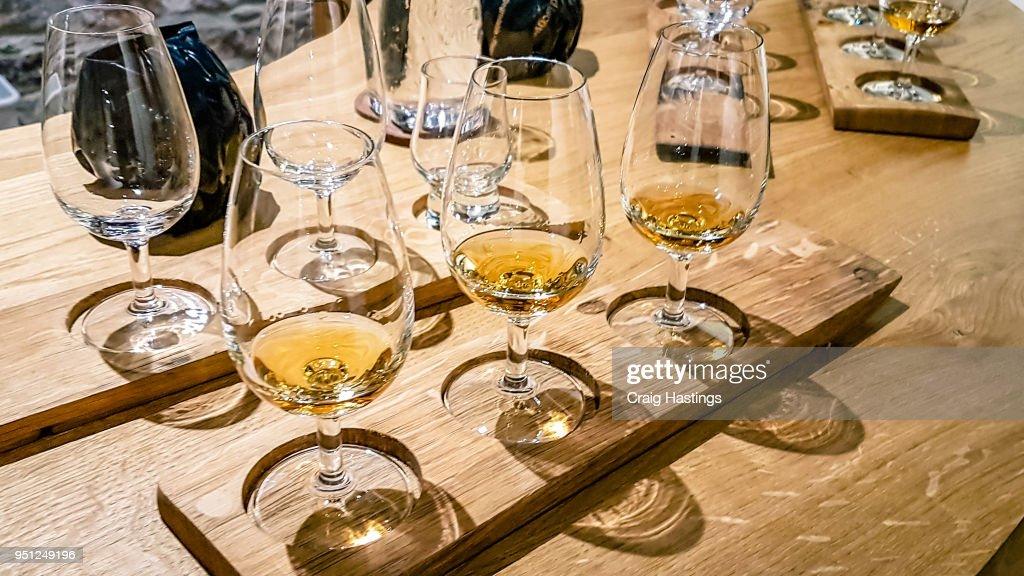 Whisky Tasting Selection Tour Scotland : Stock Photo
