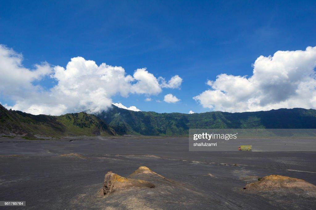 Whispering sands in Bromo Tengger Semeru national park, East Java, Indonesia. : Stock Photo