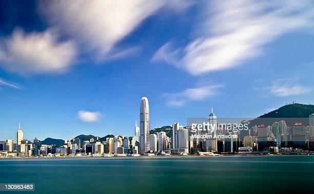 Whispy Hong Kong skyline