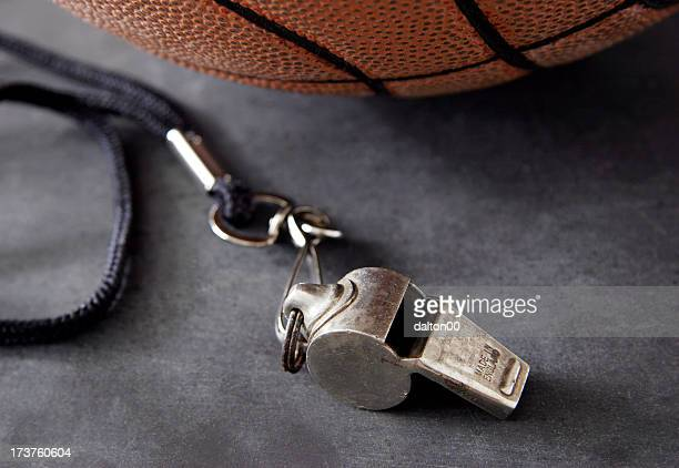 whistle and basketball - whistle stock pictures, royalty-free photos & images