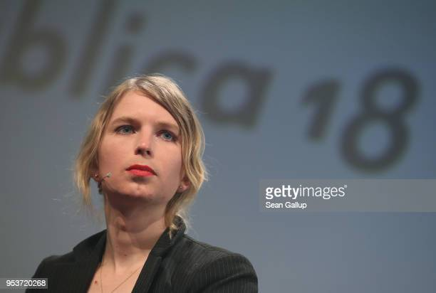 Whistle blower and activist Chelsea Manning in what she said is her first strip outside of the United States since she was released from a US prison...