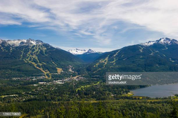 whistler blackcomb in summer - whistler british columbia stock pictures, royalty-free photos & images