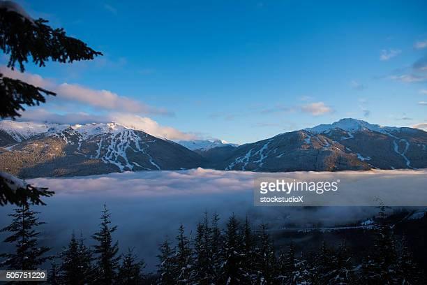 Whistler Blackcomb Mountains in winter