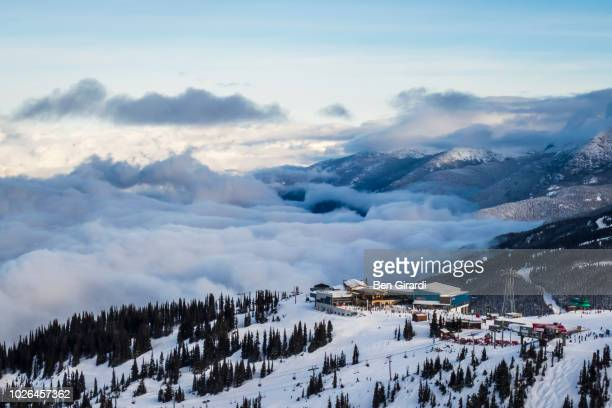 whistler blackcomb ski resort, whistler, british columbia, canada - whistler british columbia stock pictures, royalty-free photos & images