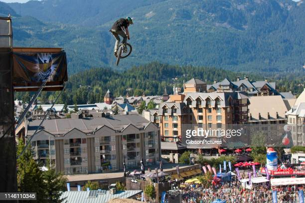 whistler crankworx joyride mountain bike event - cycling event stock pictures, royalty-free photos & images