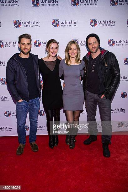 Whistler Film Festival Rising Star Actors Dustin Milligan Sara Canning Camille Sullivan and Niall Matter attend the red carpet at the Whistler Film...