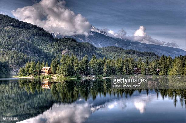 whistler morning - british columbia stock pictures, royalty-free photos & images