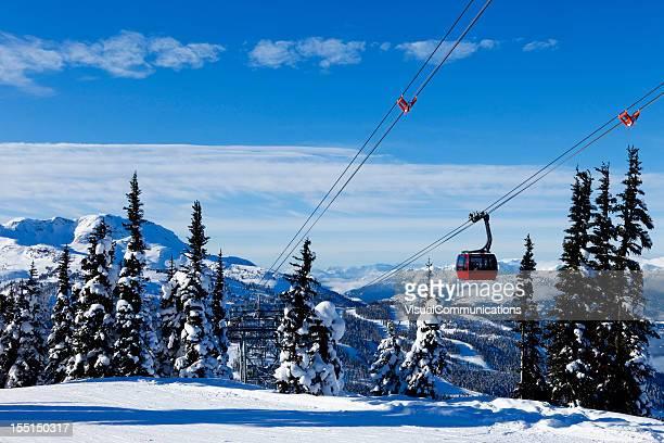 whistler ski resort. - whistler british columbia stock pictures, royalty-free photos & images