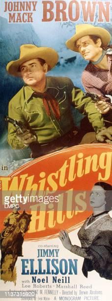 Whistling Hills, poster, US poster, top from left: Johnny Mack Brown, James Ellison, Noel Neill , 1951.