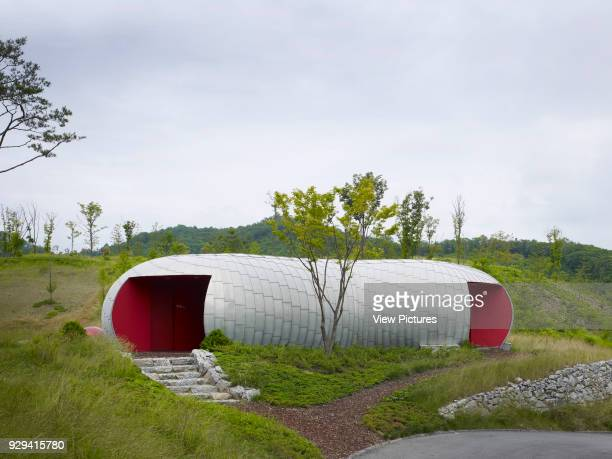 Whistling Rock Golf Clubhouse Chuncheon Korea South Architect Mecanoo 2012 Sculptural tea house located on site