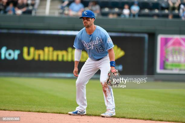 Whit Merrifield of the Kansas City Royals in action against the Chicago White Sox at Kauffman Stadium on April 29 2018 in Kansas City Missouri Whit...