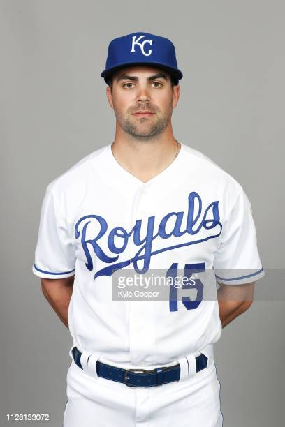 Whit Merrifield of the Kansas City Royals poses during Photo Day on Thursday February 21 2019 at Surprise Stadium in Surprise Arizona