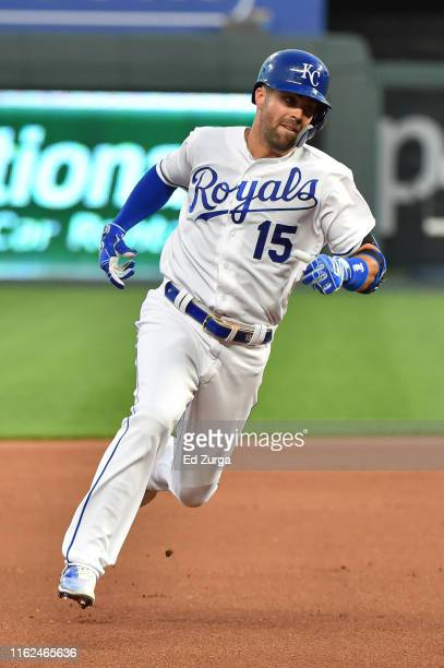Whit Merrifield of the Kansas City Royals rounds third as he heads home for a tworun insidethepark home run in the fourth inning against Chicago...