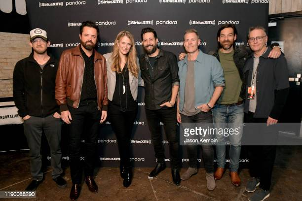 Whit Sellers and Brad Tursi of musical group Old Dominion Pandora Head of Country Beville Dunkerley Matthew Ramsey Trevor Rosen and Geoff Sprung of...