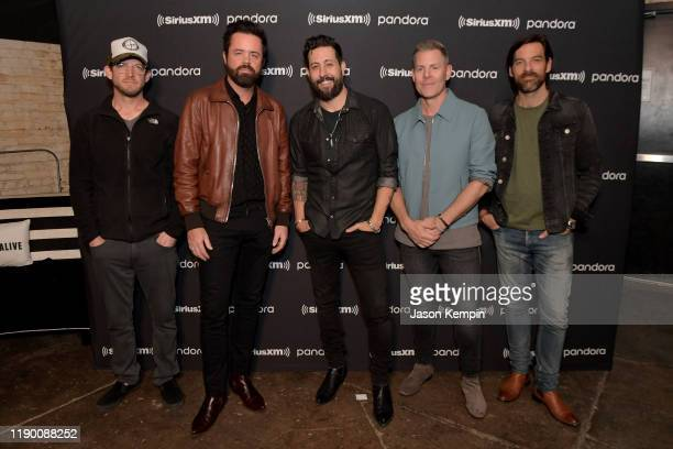 Whit Sellers Brad Tursi Matthew Ramsey Trevor Rosen and Geoff Sprung of musical group Old Dominion seen during Pandora Live at Marathon Music Works...