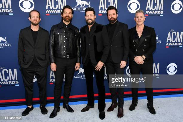 Whit Sellers Geoff Sprung Matthew Ramsey Brad Tursi and Trevor Rosen of Old Dominion attend the 54th Academy Of Country Music Awards at MGM Grand...